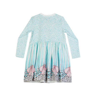 Paper Wings Frills and Spills Gathered Tee Dress - Annie and Islabean