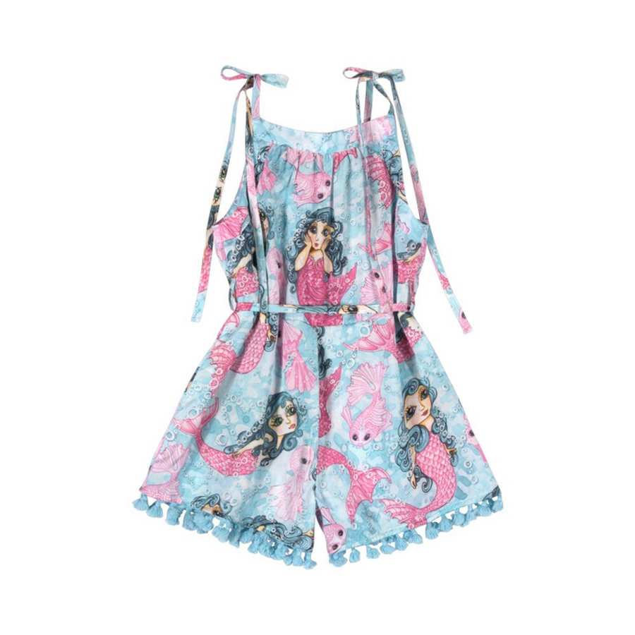 Paper Wings Mermaid Reboot Playsuit - Annie and Islabean