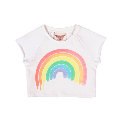 Paper Wings Rainbow Cropped Sweater - Annie and Islabean