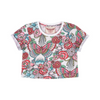 Paper Wings Tattoo Flowers Cropped Tee