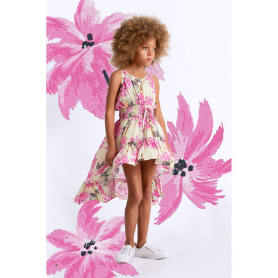 Paper Wings Tropical Zebra Hilo Dress - Annie and Islabean