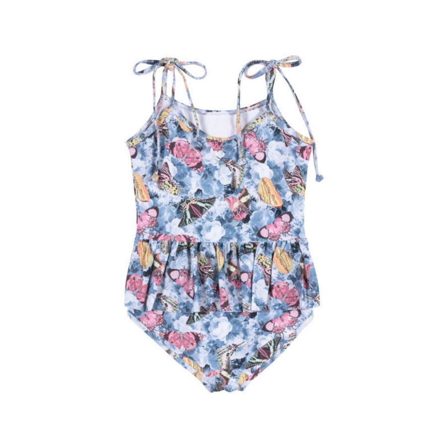 Paper Wings Vintage Butterfly Roses Swimsuit