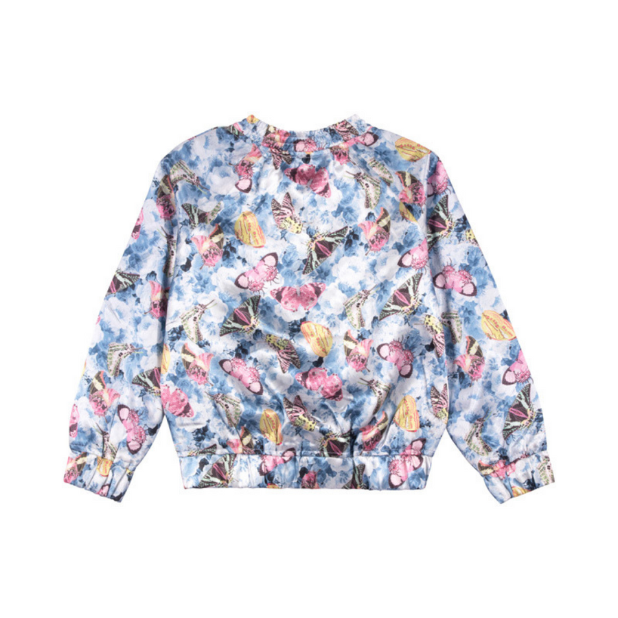 Paper Wings Vintage Butterfly Roses Satin Bomber - Annie and Islabean