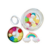 Red Bobble Rainbow Necklace Jar BIY Kit