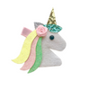 Red Bobble Pastel Glitter Unicorn Clip