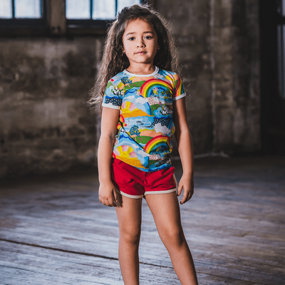 Rock Your Baby Red Farrah Jogger Shorts - Annie and Islabean