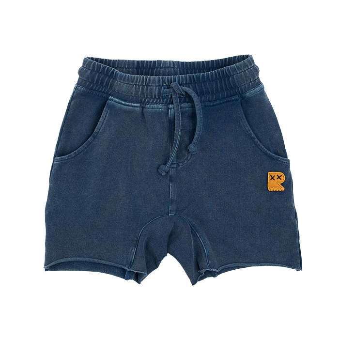 Rock Your Baby Denim Blue Smash Shorts