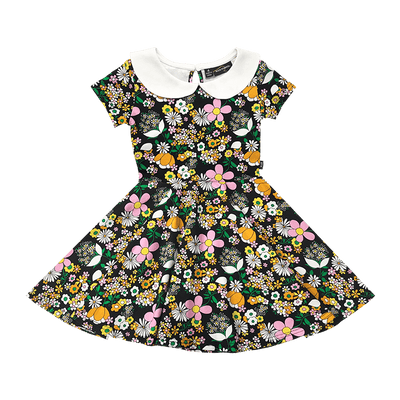 Rock Your Baby Jean Peter Pan Waisted Dress - Annie and Islabean