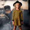 Rock Your Baby Leopard Skin Long Sleeve Waisted Dress