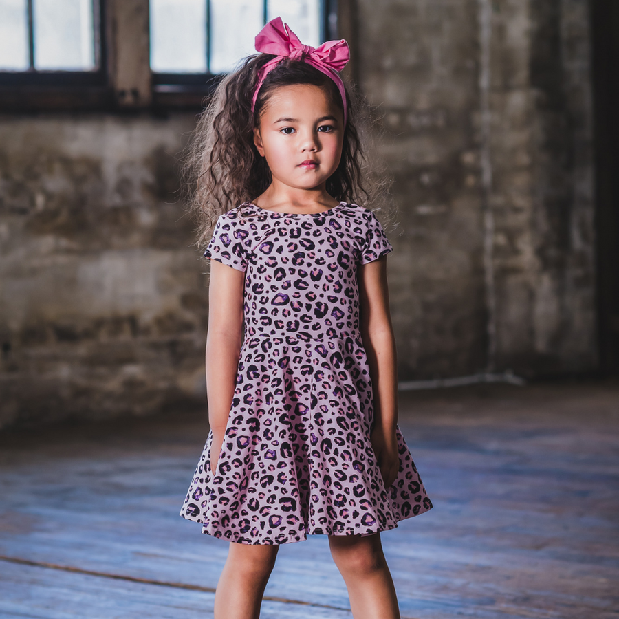 Rock Your Baby Pink Leopard Waisted Dress
