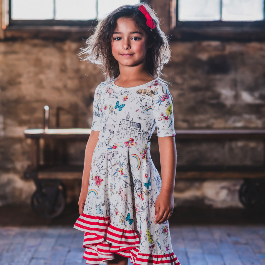 Rock Your Baby Little And Fierce Waisted Frill Dress - Annie and Islabean