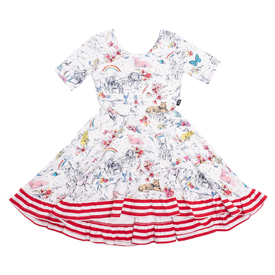 Rock Your Baby Little And Fierce Waisted Frill Dress