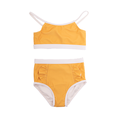 Rock Your Baby Mustard Frill High Waisted Bikini - Annie and Islabean