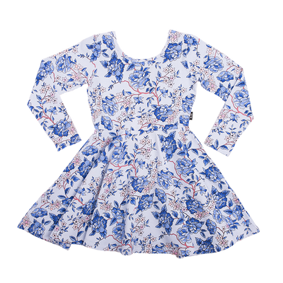 Rock Your Baby Oriental Floral Long Sleeve Mabel Dress