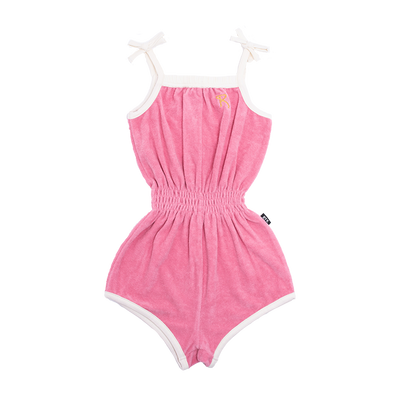Rock Your Baby Pink Sabrina Romper