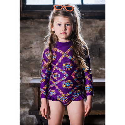 Rock Your Baby Purple Haze Long Sleeve Rashie Set - Annie and Islabean