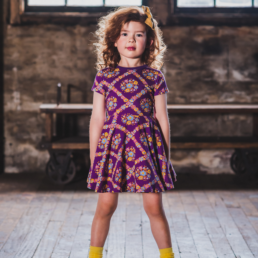 Rock Your Baby Purple Haze Waisted Dress - Annie and Islabean