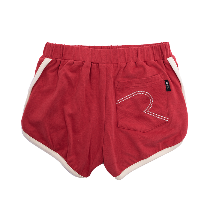 Rock Your Baby Red Farrah Jogger Shorts