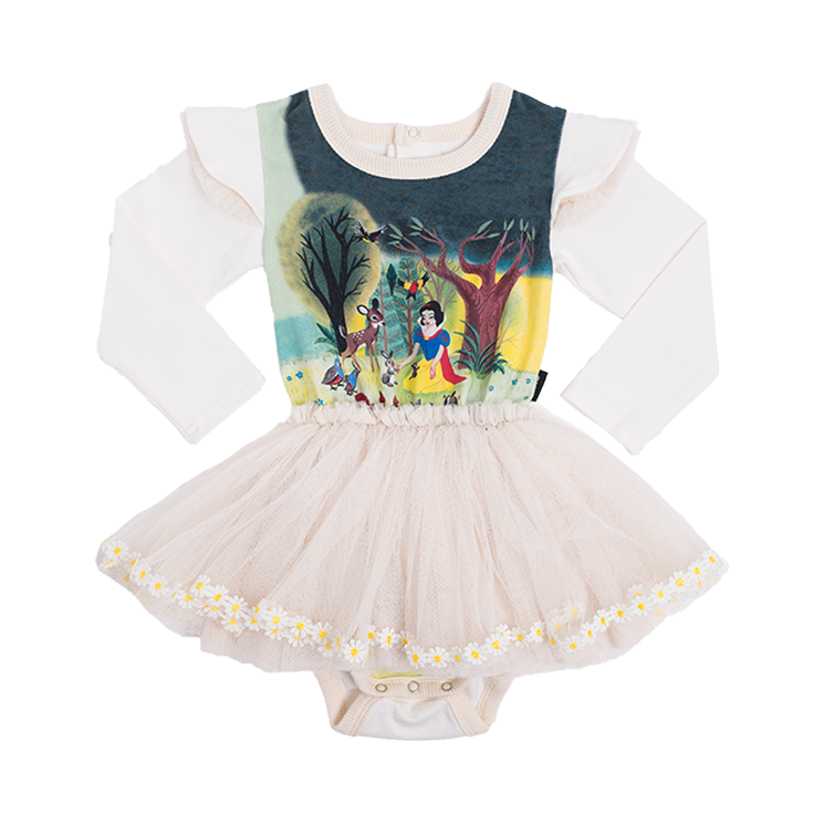 13719956ff7 Rock Your Baby Snow White And Friends Long Sleeve Circus Dress