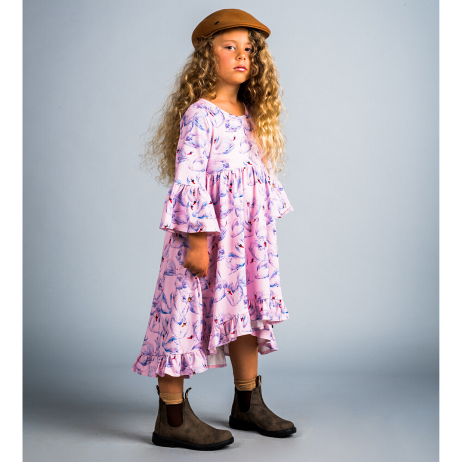 Rock Your Baby Swans Boho Dress - Annie and Islabean