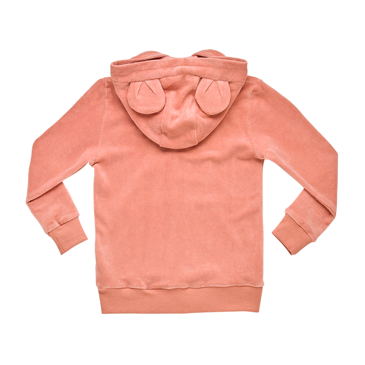 Rock Your Baby Terry Towelling Hoodie - Musk Pink - Annie and Islabean