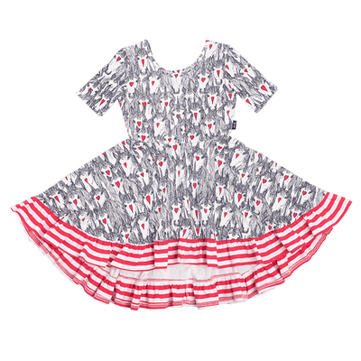Rock Your Baby Unicorn Love Waisted Frill Dress