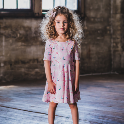Rock Your Baby Unicorn Ribbons Mabel Dress - Annie and Islabean