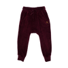 Rock Your Baby Velvet Track Pants - Plum