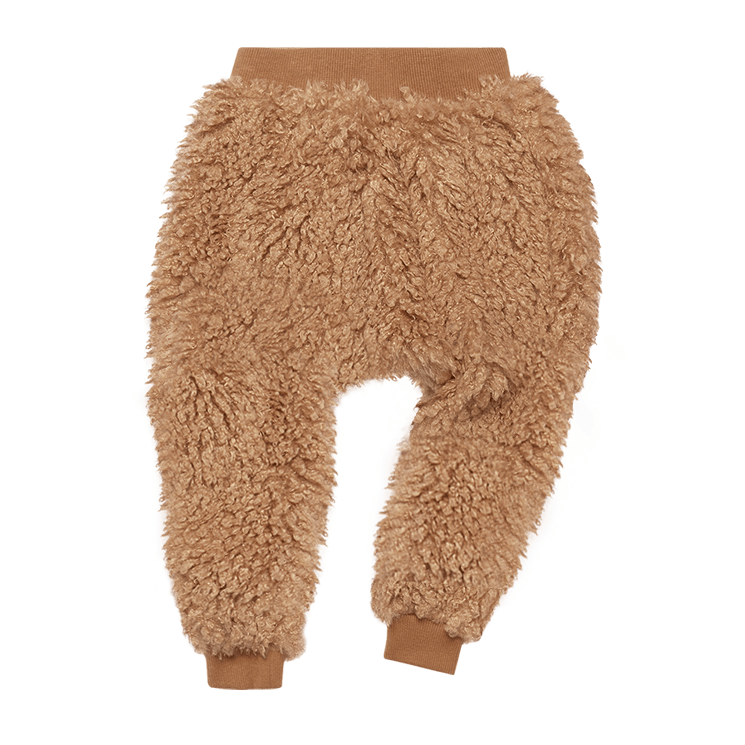 Rock Your Baby Caramel Sherpa Track Pants