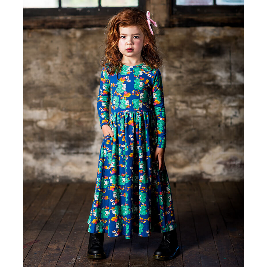 Rock Your Baby Electric Dreams Long Sleeve Maxi Dress