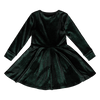 Rock Your Baby Green Velvet Long Sleeve Waisted Dress - Annie and Islabean