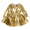 Rock Your Baby Long Sleeve Mad Men Dress - Metallic Gold - Annie and Islabean