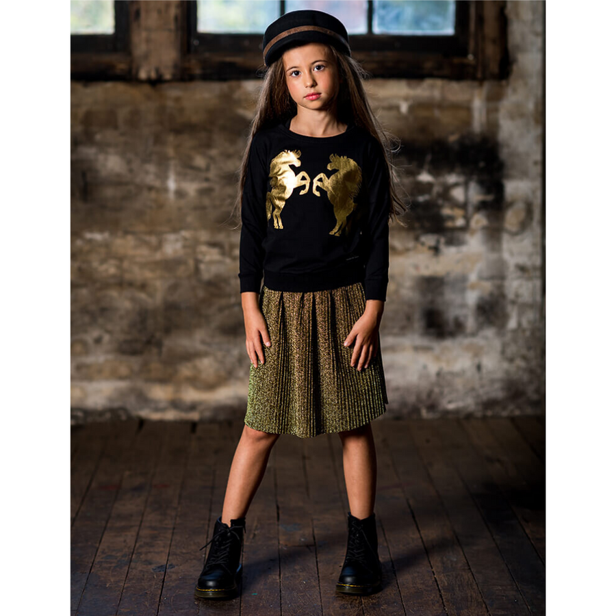 Rock Your Baby Shimmer Skirt - Metallic Gold