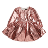 Rock Your Baby Metallic Pink Long Sleeve Mad Men Dress - Annie and Islabean