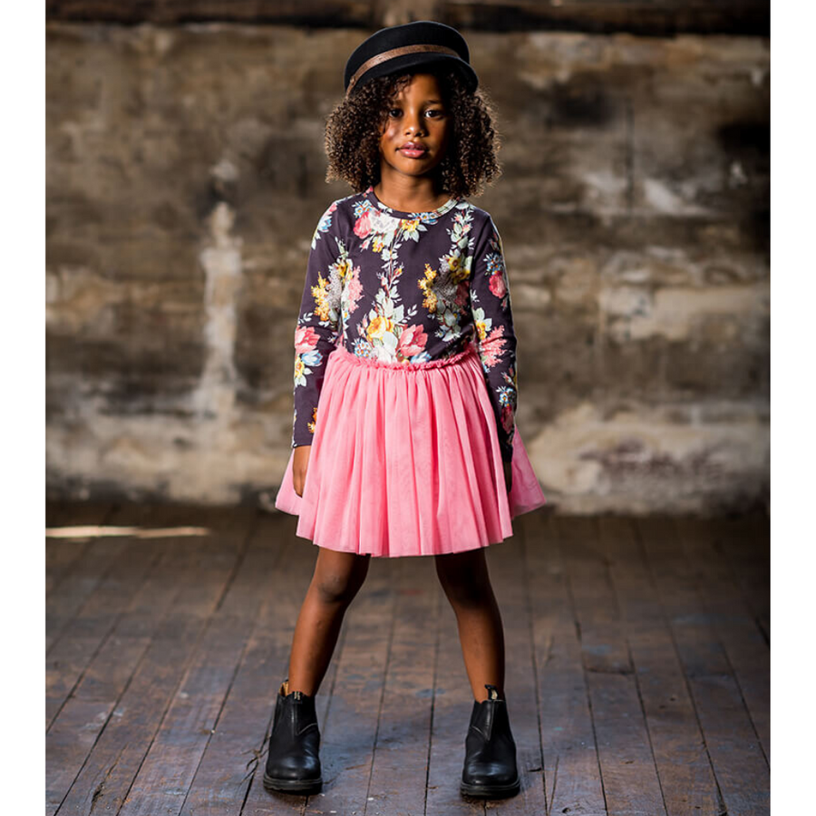 Rock Your Baby Midnight Chintz Long Sleeve Circus Dress - Annie and Islabean