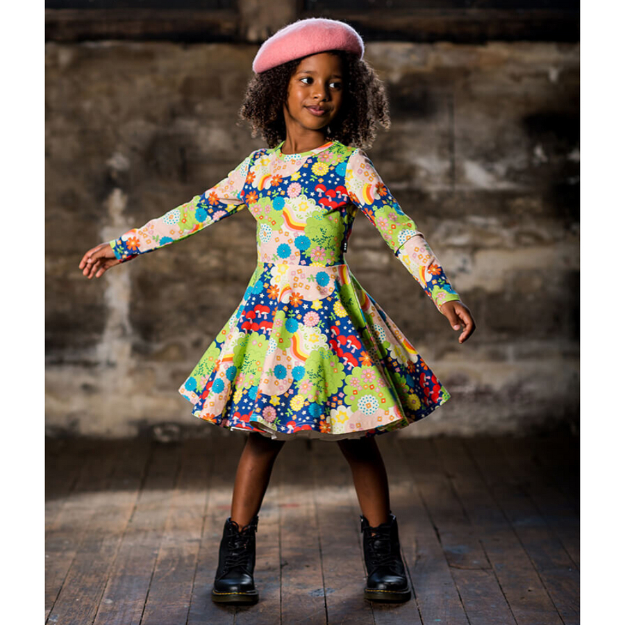 Rock Your Baby Monterey Long Sleeve Waisted Dress - Annie and Islabean