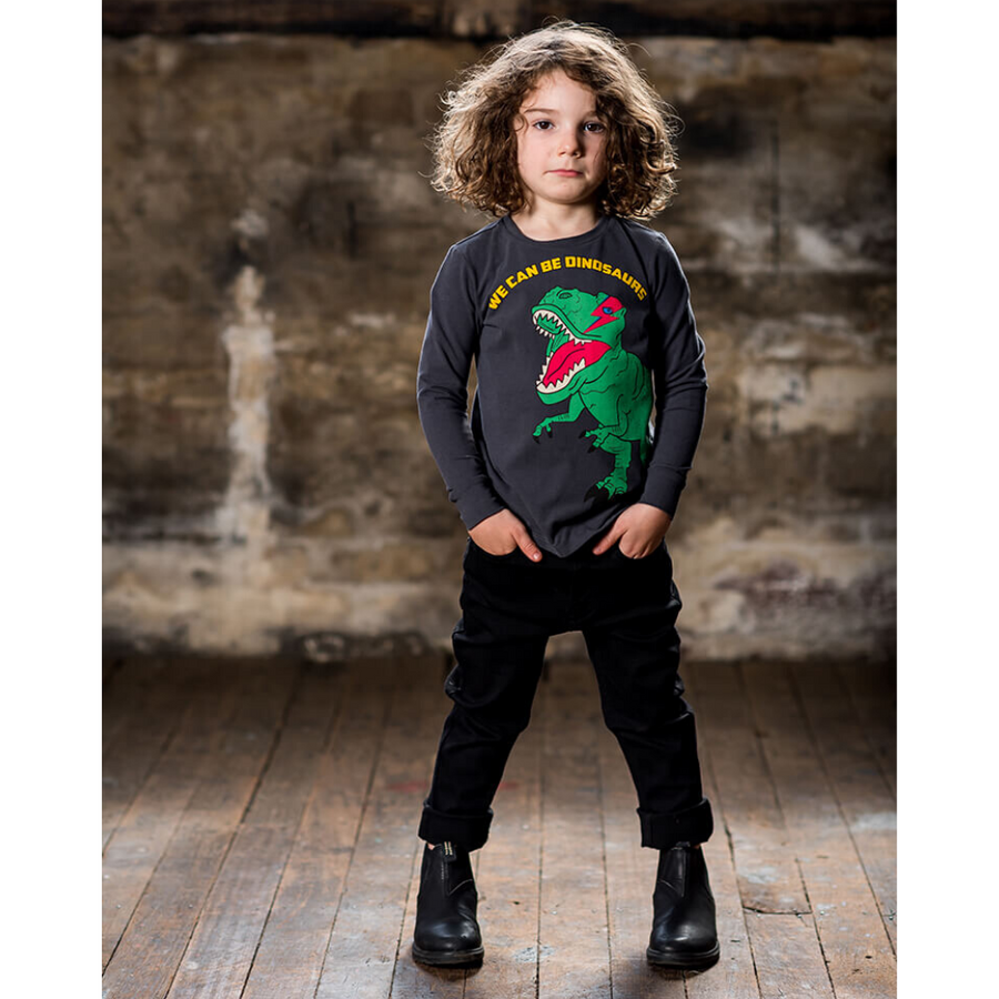 Rock Your Baby We Can Be Dinosaurs Long Sleeve T-Shirt