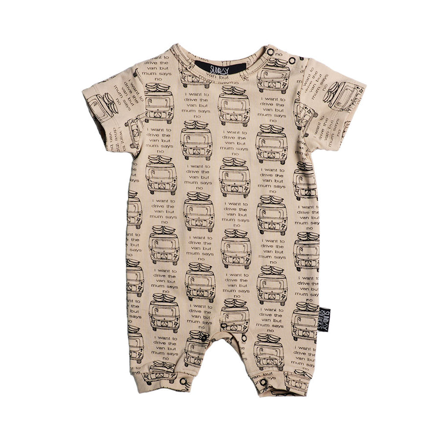 Sunday Soldiers Drive The Van Short Romper