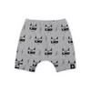 KaPow Kids Super Fox Harem Shorts - Grey Marle - Annie and Islabean