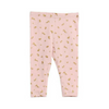 Gold Bunny Baby Girl Leggings, WHEAT - Annie and Islabean