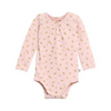 Gold Bunny Baby Girl Bodysuit, WHEAT - Annie and Islabean
