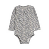 Grey Bird Baby Girl Bodysuit, WHEAT - Annie and Islabean