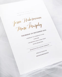Jessie 2 Sided Print and Foil Invitations