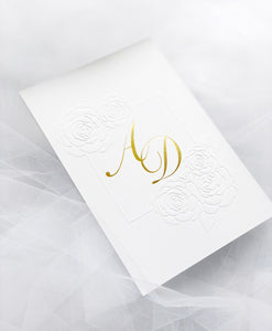 'Diana' Wedding Invitation Set - includes RSVP & Wishing Well