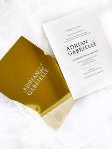 Gabrielle Mirror Invitations