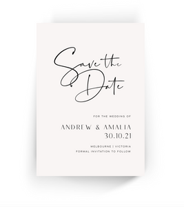 'Amalia' Save the Date Invitation