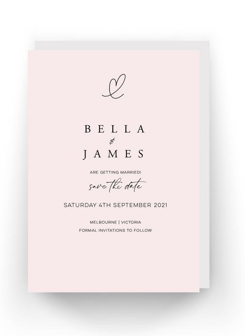 'Bella Rose' Save the Date Invitation