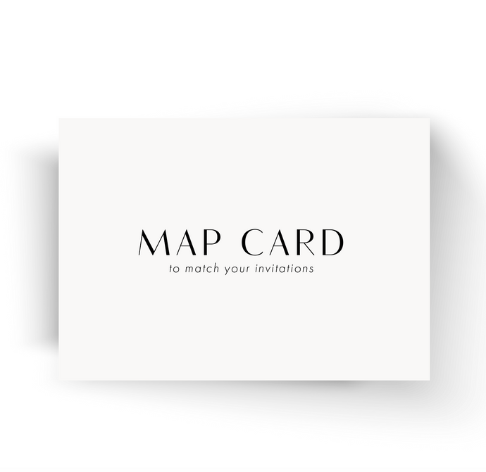 MAP CARD to match your invitations