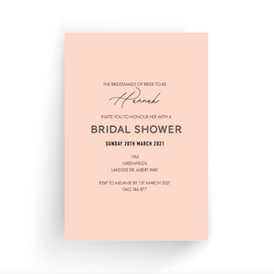 Hannah Bridal Shower Invitation