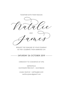 Natalie - Digital Print Wedding Invitation